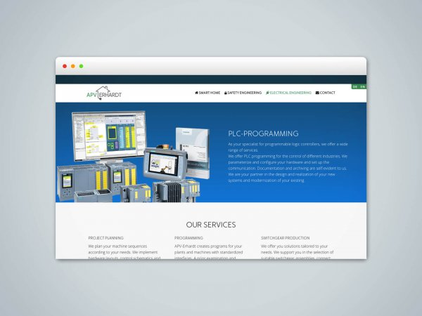 Webseite und Umsetzung APV Erhardt