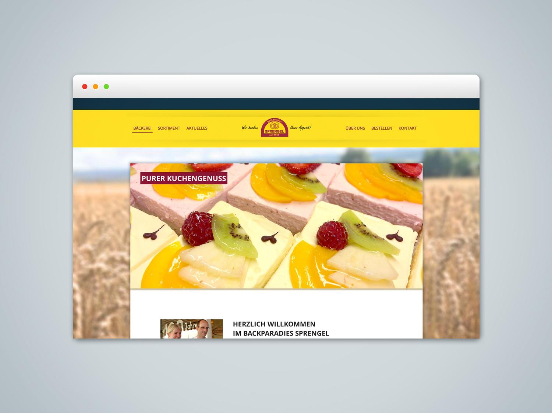 Webdesign für die Bäckerei Sprengel in Langreder bei Barsinghausen