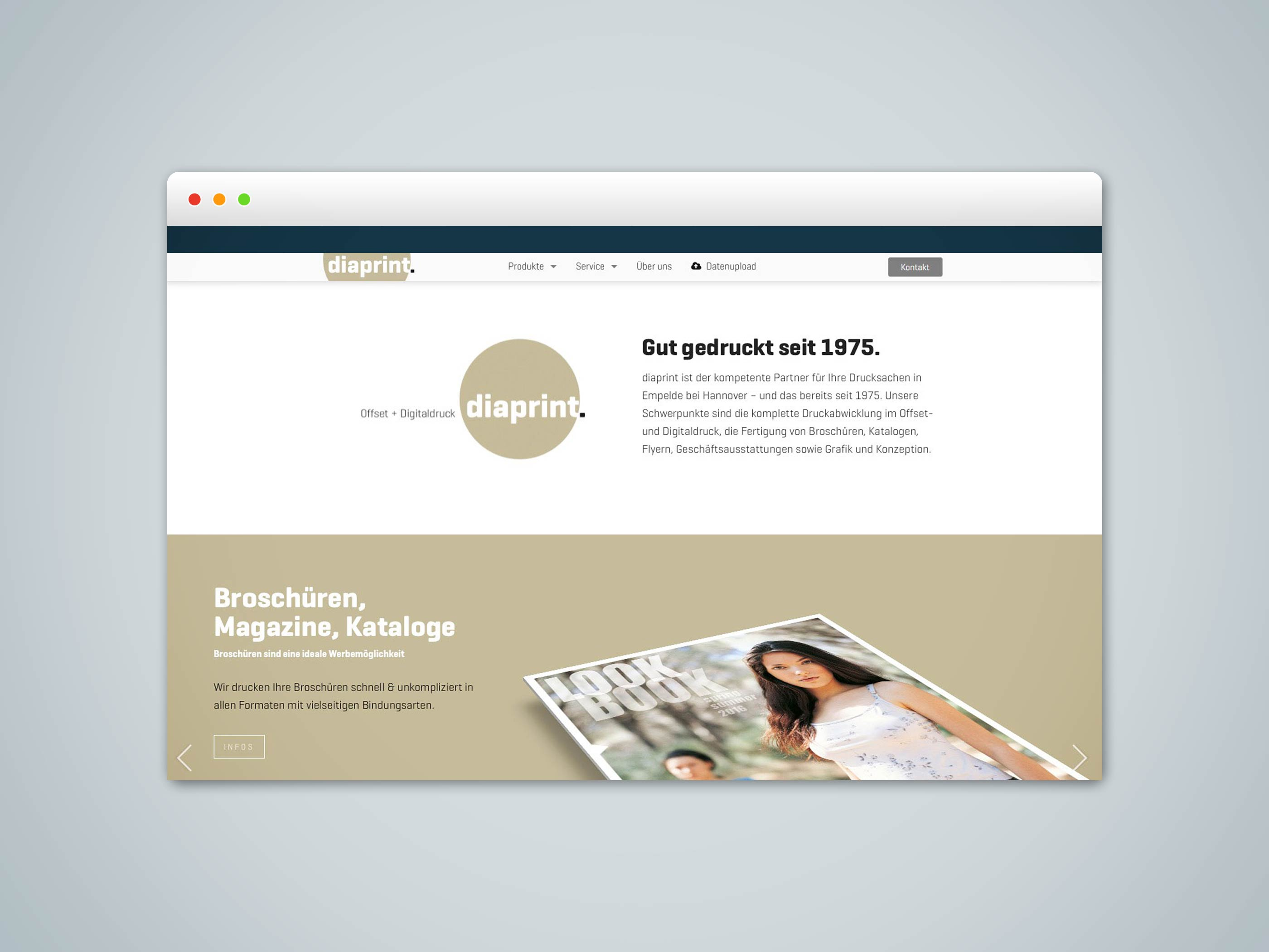 Jochen Abitz Webdesign Portfolio - diaprint KG