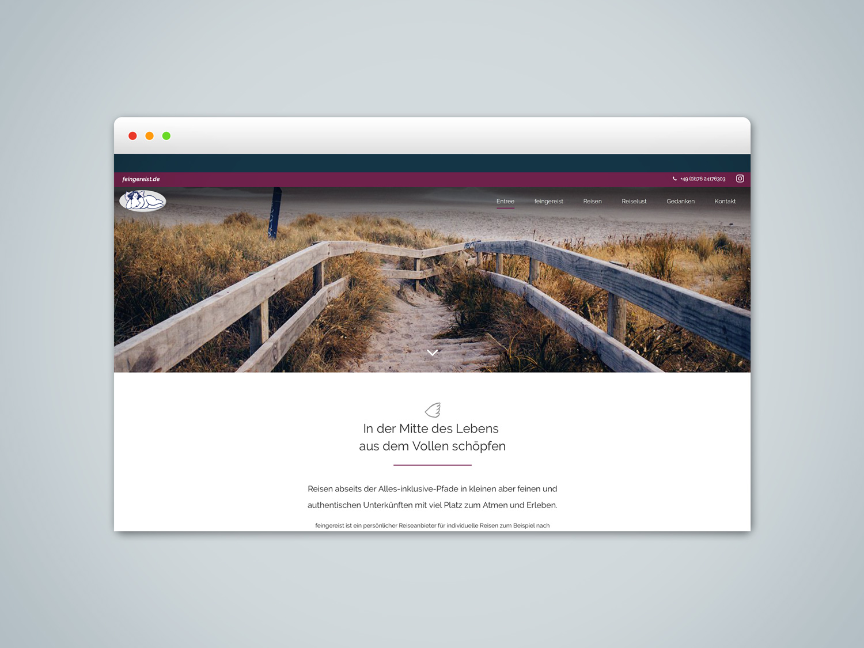 Webdesign und Einbindung CMS für feingereist in Hildesheim