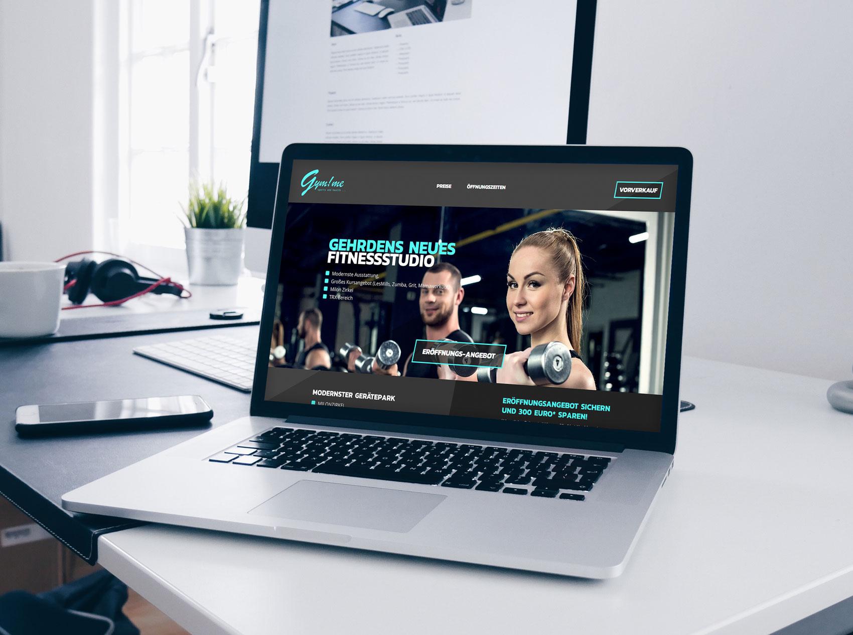 Webdesign für ein Fitnessstudio in Gehrden bei Hannover