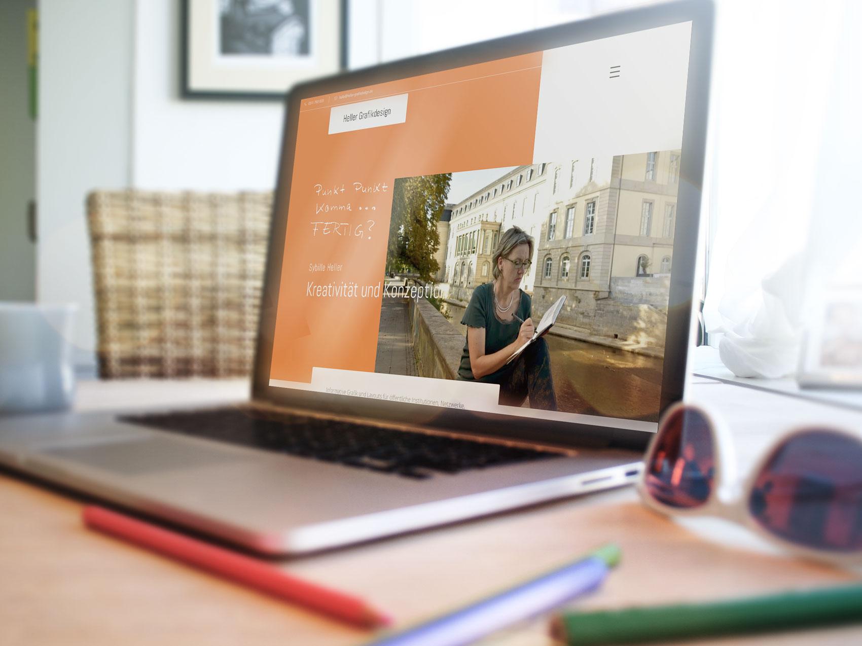 Webdesign für eine Grafikdesignerin aus Hannover