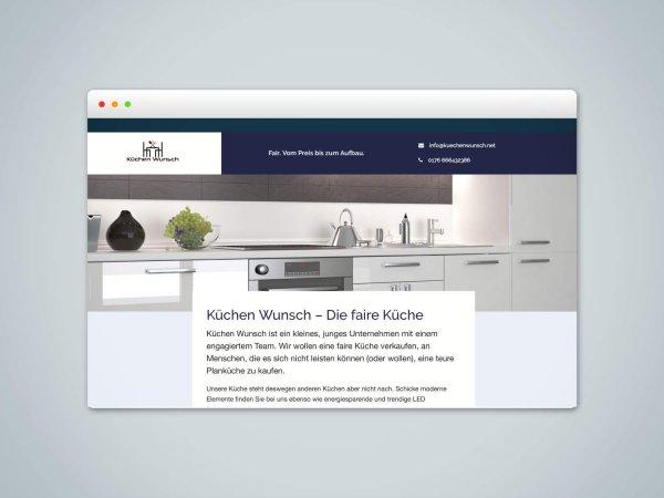 Webdesign und Umsetzung der Webseite Küchen Wunsch