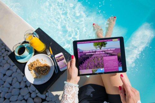 Webdesign für die Lavendelreise-Provence von Feingereist