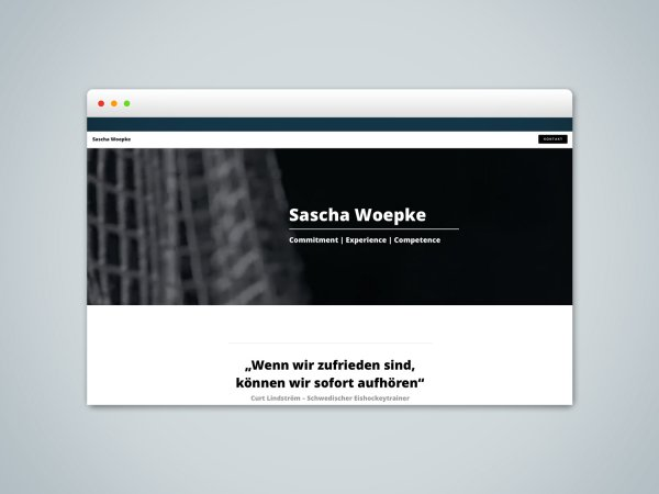 Teammanager Sascha Woepke – Webseitengestaltung