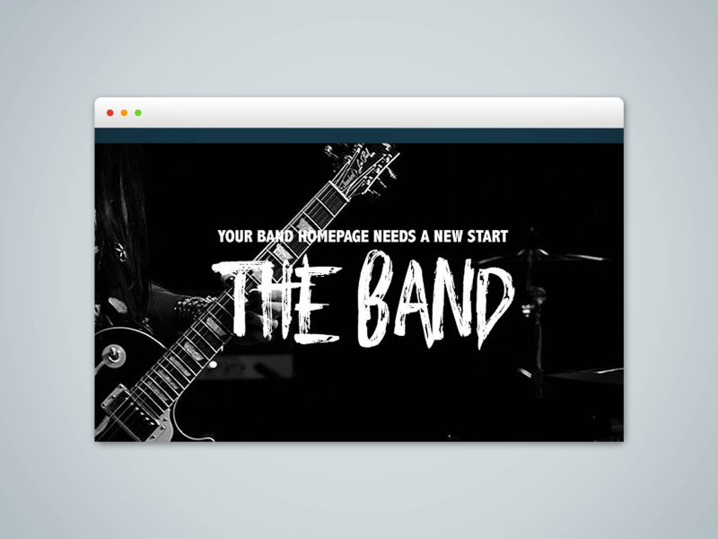 The Band - RapidWeaver Foundation Project for bands