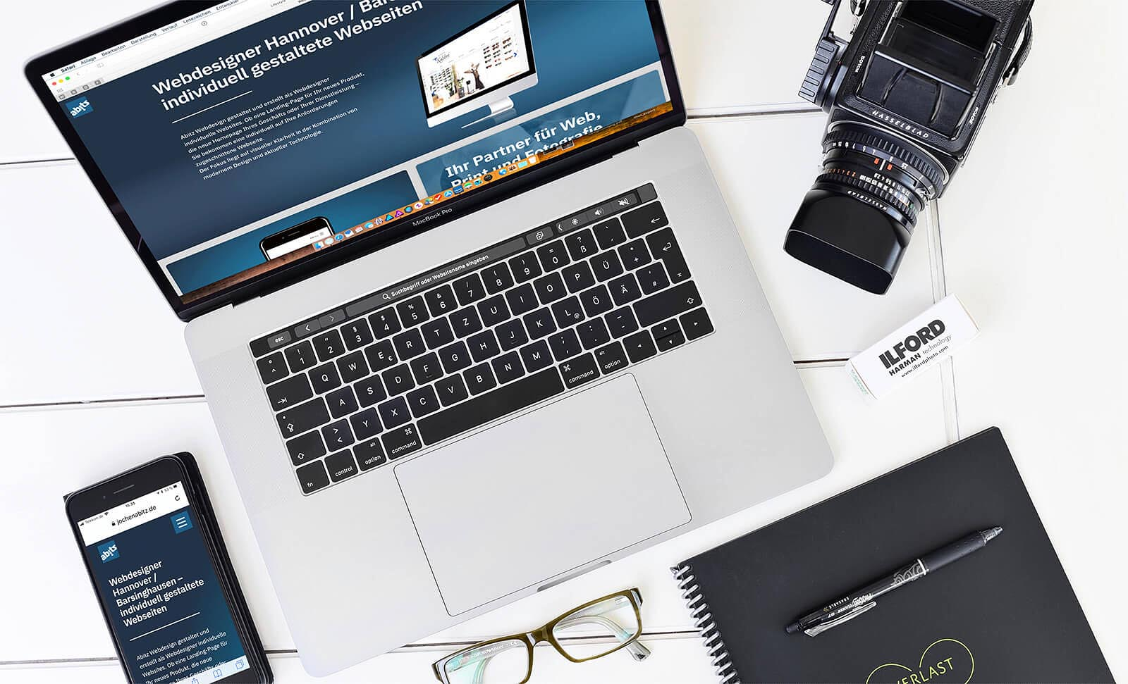 Webseite oder Homepage erstellen oder gestalten lassen | Webdesigner Jochen Abitz aus Hannover